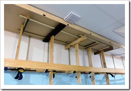 ceiling in place with temporary supports